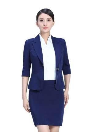 蓝色半袖套装